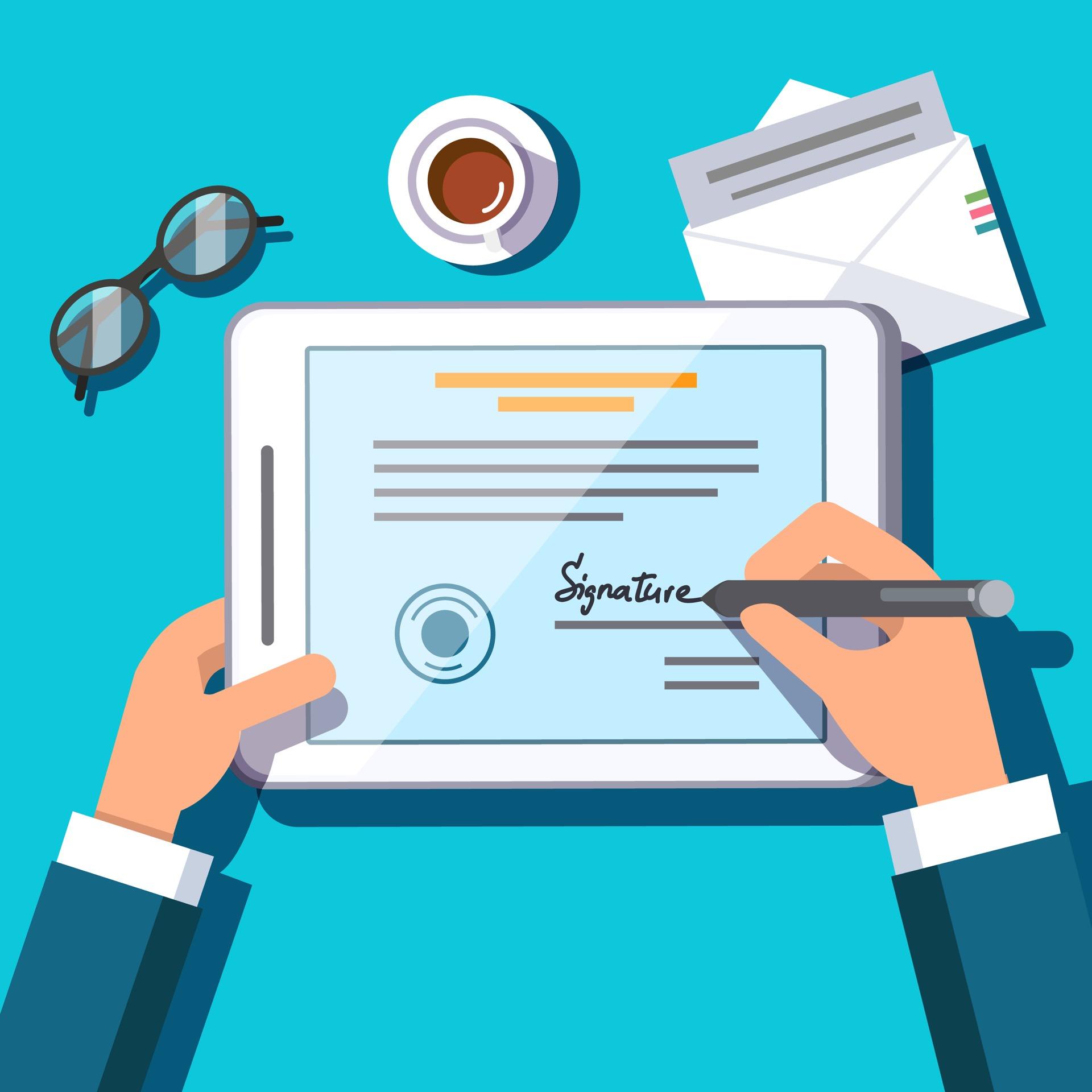 Los contratos, la firma electrónica y un nuevo mercado.